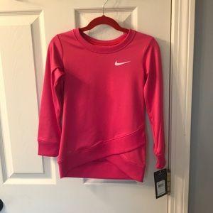 Girls Nike Dri-Fit pink sweatshirt NWT